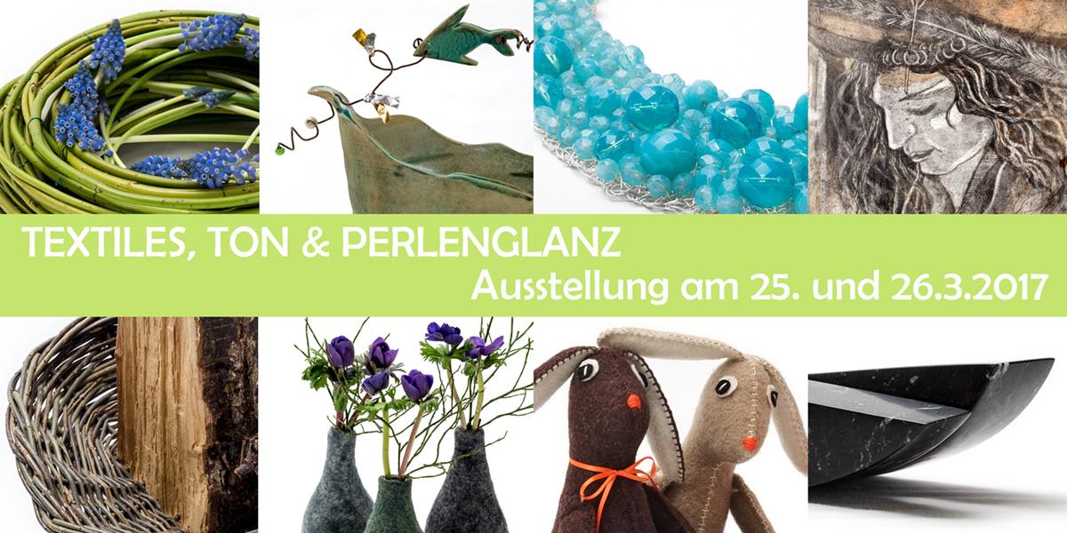 Textiles, Ton und Perlenglanz - Flyer